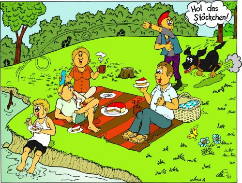 picknick im park by mis09 media   culture cartoon toonpool Black Family Picnic Clip Art family picnic clipart pictures