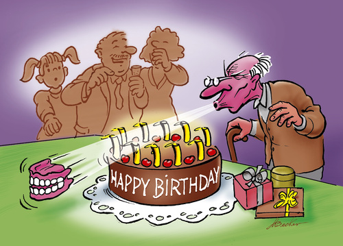 happy birthday by michael becker philosophy cartoon toonpool. Black Bedroom Furniture Sets. Home Design Ideas