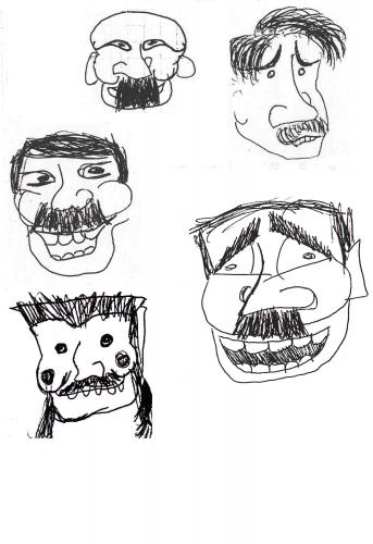 Cartoon: Mustaches (medium) by illa strator tagged mustache,beard,heads,high