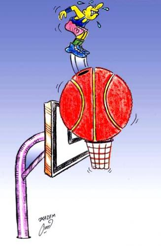 basketball ball cartoon. Cartoon: asketball (medium)