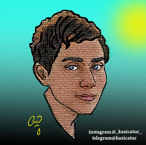 Cartoon: maryam mirzakhani (medium) by Hossein Kazem tagged maryam,mirzakhani