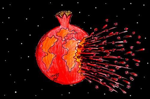 Cartoon Images of Pomegranate Cartoon Pomegranate in War