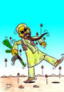 Cartoon: ben laden (small) by Hossein Kazem tagged ben,laden