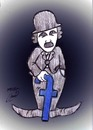 Cartoon: chaplin in facebook (small) by Hossein Kazem tagged chaplin,in,facebook