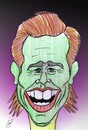Cartoon: jim carrey (small) by Hossein Kazem tagged jim,carrey
