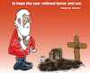 Cartoon: merry christmas (small) by Hossein Kazem tagged merry christmas