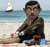 Cartoon: Mr. Bean (small) by Hossein Kazem tagged mr,bean