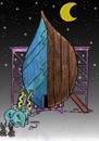 Cartoon: noah ship at 2012 (small) by Hossein Kazem tagged noah ship at 2012
