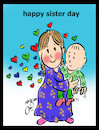 Cartoon: sister day (small) by Hossein Kazem tagged sister,day