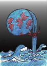 Cartoon: tsunami in japan (small) by Hossein Kazem tagged tsunami,in,japan
