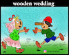 Cartoon: wooden wedding (small) by Hossein Kazem tagged wooden,wedding
