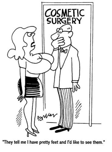 Cartoon: Cosmetic Surgery (medium) by Dave Parker tagged cosmetic,surgery,silicone