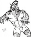 Cartoon: Lycanthropy (small) by DaD O Matic tagged halloween werewolves fullmoon vampires witchs
