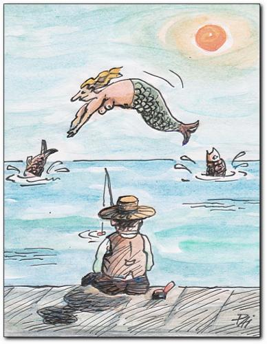 cartoon fishing pics. Cartoon: fishing (medium) by
