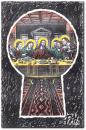 Cartoon: last supper (small) by penapai tagged secret