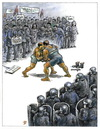 Cartoon: protesters (small) by penapai tagged police,protesters