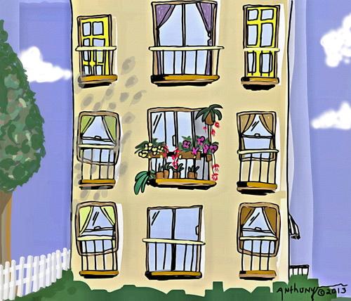 Cartoon Apartment Life Medium By Tonyp Tagged Arp Arptoons Wacom