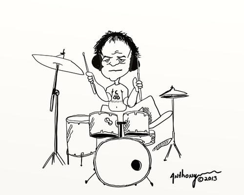 Portfolio   Fritz Cartoons   Cartoons About Drummers