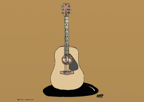 Cartoon: Gutar soul (medium) by tonyp tagged arp,guitar,man,music,soul,sole,arptoons