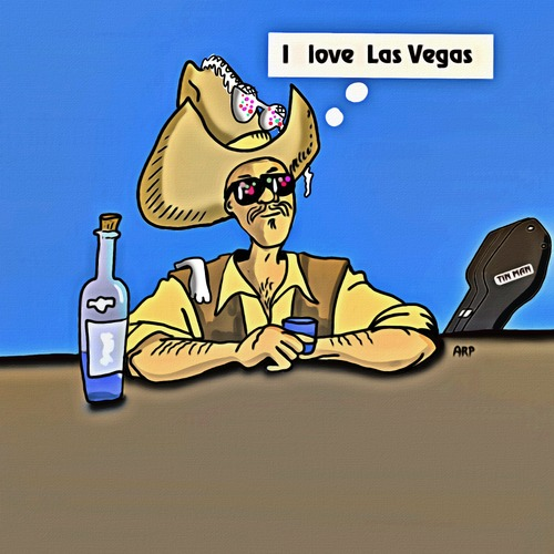 Cartoon: Las Vegas NV. USA (medium) by tonyp tagged arp,tonyp,arptoons,las,vegas,cowboy,thoughts