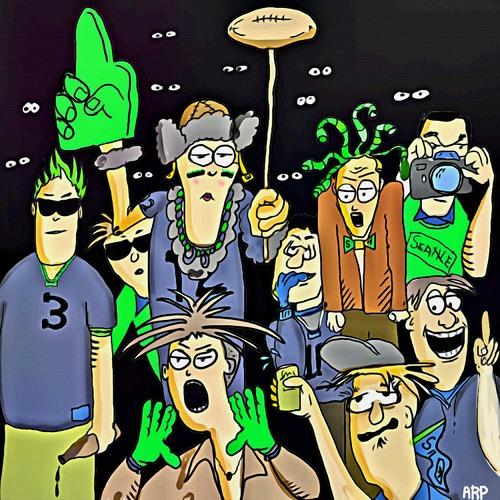 seattle seahawk fans by tonyp sports cartoon toonpool
