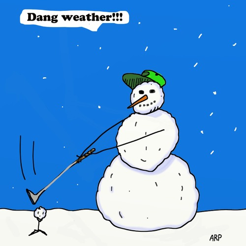 Cartoon: Snowman Weather (medium) by tonyp tagged arp,arptoons,golf,tonyp