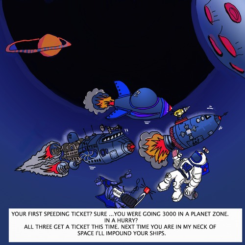 Cartoon: SPACE TICKET (medium) by tonyp tagged space,arp,tonyp,arptoons,ship,ticket