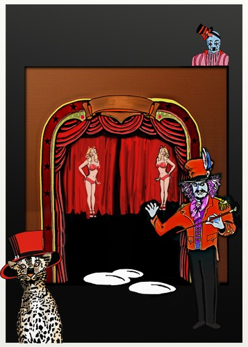 Cartoon: Special Display Event (medium) by tonyp tagged arp,circus,special,arptoons,magic