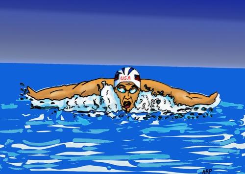 Swimmer By Tonyp Sports Cartoon Toonpool