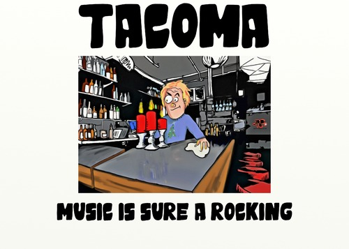 Cartoon: TACOMA MUSIC SCENE (medium) by tonyp tagged scene,tacoma,music,arp
