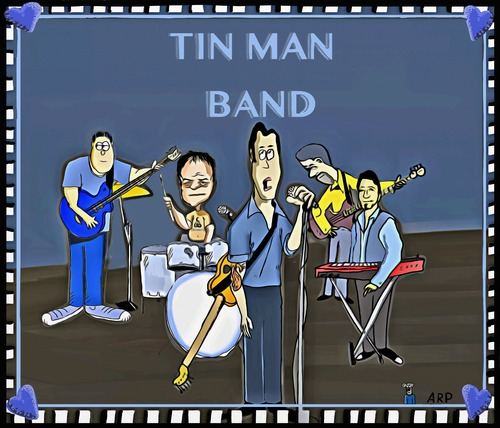 Cartoon: Tin Man Band samples cd cover (medium) by tonyp tagged tin,man,arp,tonyp,music
