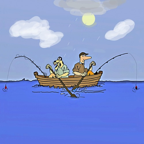 Fishing Boat Cartoon Togetherness By...