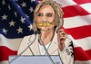Cartoon: Bandaid Hillary (small) by tonyp tagged arp,hillary,usa,election,politics