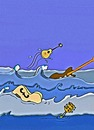 Cartoon: Guitars in toon (small) by tonyp tagged arp,arptoons,guitar,water