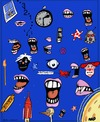 Cartoon: Just Doodling (small) by tonyp tagged arp,doodle,arptoons,mouths,eyes,space