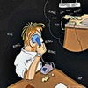 Cartoon: Looking for an Life (small) by tonyp tagged arp,arptoons,tonyp,phone,calls,work