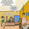 Cartoon: Nude Sheriff in Town (small) by tonyp tagged arp,arptoons,tonyp,sheriff,nude,cowboys