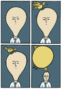 Cartoon: Swell (small) by baggelboy tagged balloon,bird,comic