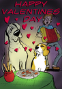 Cartoon: Valentines Day with Bruno (small) by dogtari tagged valentines,day,great,dane,beagle