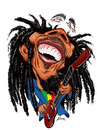 Cartoon: Bob Marley (small) by William Medeiros tagged music,reggae