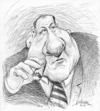 Cartoon: James Gandolfini (small) by William Medeiros tagged actor,movies,series,soprano