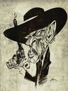 Cartoon: Lee Van Cleef (small) by William Medeiros tagged movie,actors,western