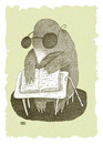 Cartoon: Braille (small) by weiszb tagged mole,book,white,cane