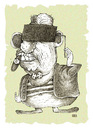 Cartoon: Looks dark (small) by weiszb tagged criminal,cigar,bad,boy,clip