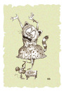 Cartoon: Panic (small) by weiszb tagged cat,mouse,panic