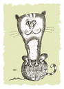 Cartoon: The top of the world (small) by weiszb tagged cat,hank