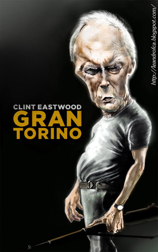 Cartoon: Clint Eastwood (medium) by leandrofca tagged caricature,arte,ilustration