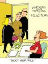Cartoon: Enjoy your will! (small) by daveparker tagged solicitors,office,mourners,beneficiarys