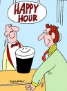 Cartoon: Happy Hour (small) by daveparker tagged beer,happy,hour,smiling
