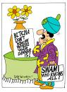 Cartoon: Know it all. (small) by daveparker tagged swami,dinner,somewhere